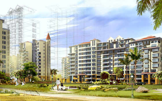 рисунок, многоэтажных, города, многоэтажки, проекты, домов, страны, презентация,