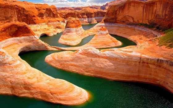 каньон, grand, река, desktop, arizona,
