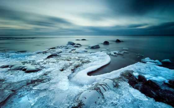 лед, небо, холод, побережье, captivity, mobile,