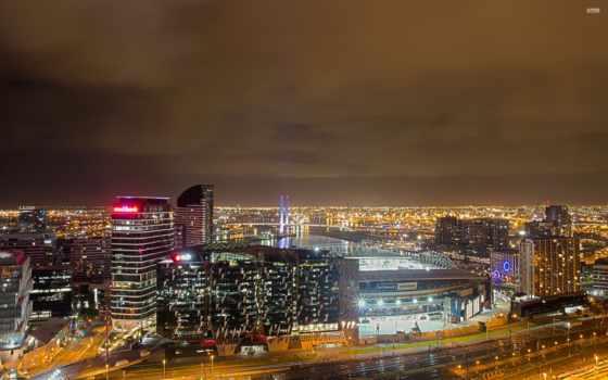 manchester, ночь, skyline, июл, город, коллекция, широкоформатных, огни, тематика,