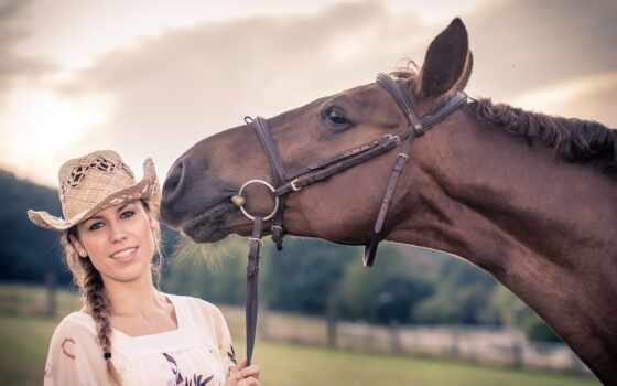 caballo, sombrero, chica, шляпа, лошадь, pantalla, девушка, animal, golov, женщина, молодой