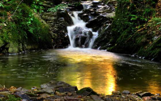 водопады, природа, водопад