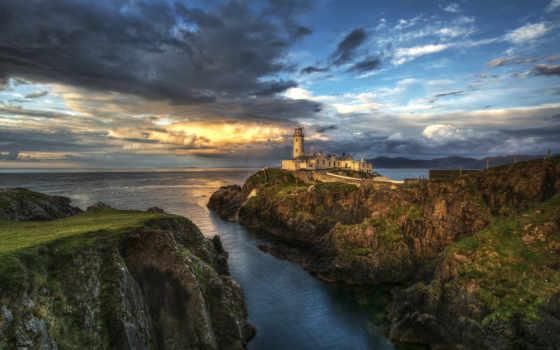 iceland, desktopwallpape, картинок, коллекция, моря, lighthouse, обрыве, fone,