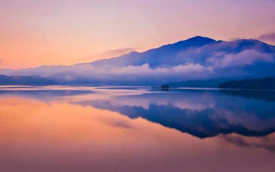 отражение, небо, природа, рассвет, озеро, спокойствие, атмосфера, утро, послесвечение, горизонт,