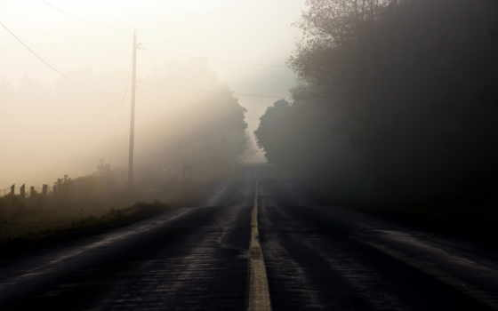 дорога, туман Фон № 8730 разрешение 1920x1280