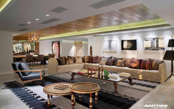 дизайн, гостиной, стиле