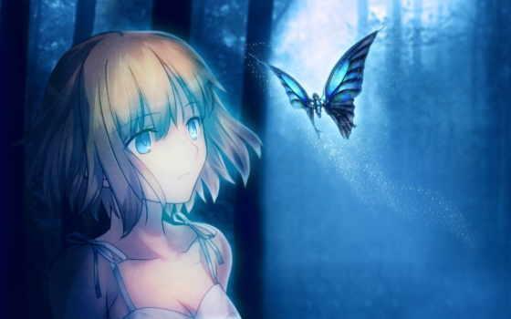 art, anime, девушка