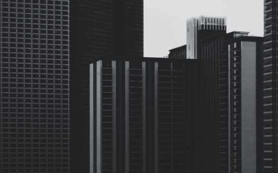 небоскребы, серый