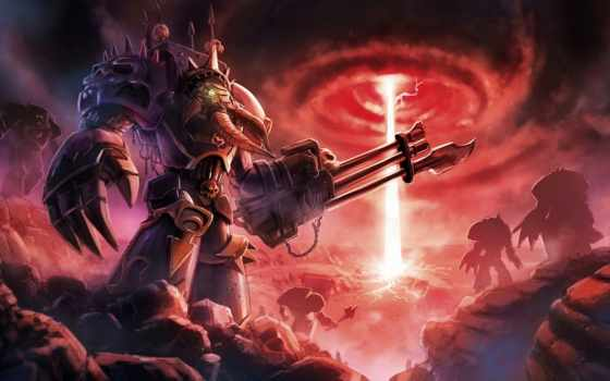 warhammer, chaos, terminators, терминатор, космос, marine, undivided, tribute,