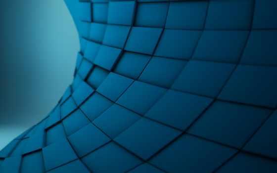 абстракция, квадраты, фон, текстура, blue, текстуры, кубики,
