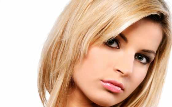 blonde, зеленоглазая, лицо