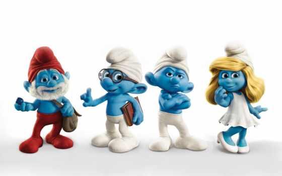 синие, человечки, smurfs, смурфики, smurfy, мультяшки, кинотеатр,