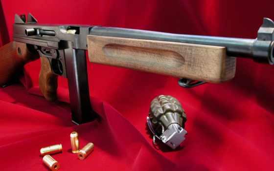 оружие, ПП, томми-ган, паторны, граната