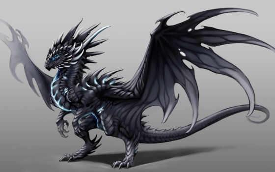 дракон, art, буря