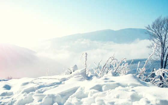 сугробы, winter, снег, природа, погода, горы, trees, lodge, условия, небо, дек,