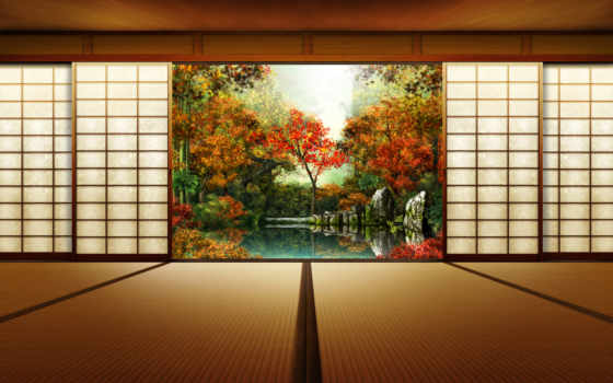 осень, японии, япония