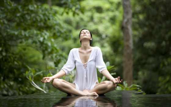 йога, медитация, поза, lotus, утро, desktop, женщина,