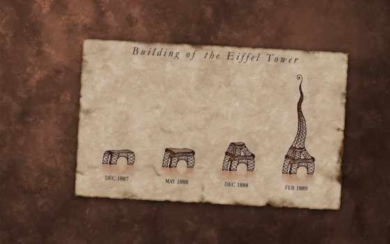 эйфелева, turret, история, эйфелевой, башни, телефон, concrete, париж,