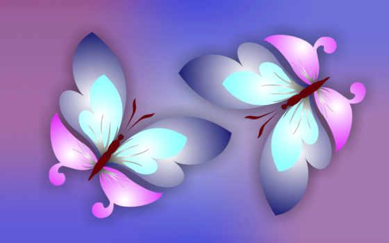 бабочки, butterflies, бабочка, flowers, фиолетовые, абстракция, fone, фон, надписями,