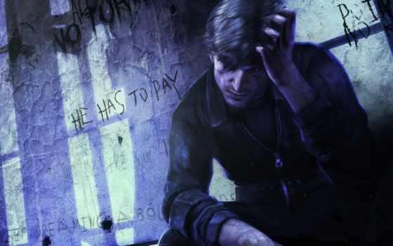 silent, герой, парень, hill, игр, сходит, тени, uma, тюрьма, игры,