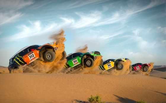 мини, cooper, rally, car, песок