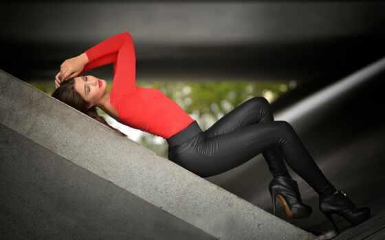 девушка, leggings, штаны, йога, лось, женщина, leggins, leather, top