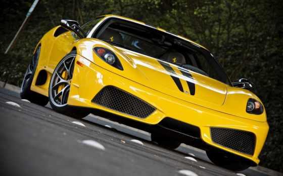 ferrari, yellow, cars