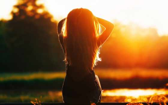 devushka, силует, svet, солнечный, настроения,