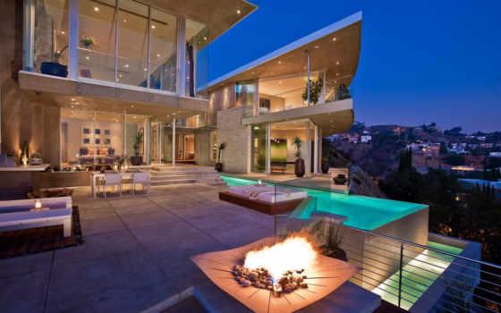 house, бассейн, california