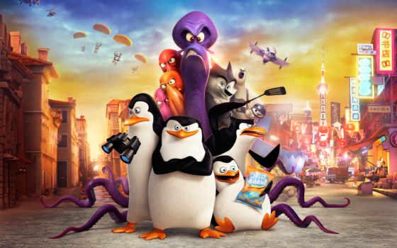 мадагаскар, penguins, пингвины Фон № 119587 разрешение 2880x1800