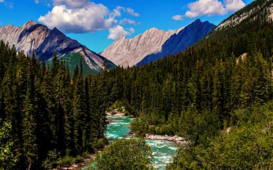 канадский, альберта, кордильеры, national, park, jasper, северная, горы, американский, скалистые,