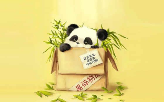 рисунки, забавные, панды