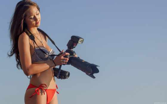 фотоаппарат, девушка, девушки
