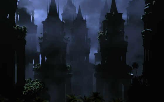 башни, заброшенные, darkness, mystery, ночь, башня,