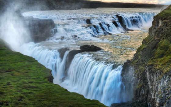 водопад, honor, новозеландия, водопады, река,
