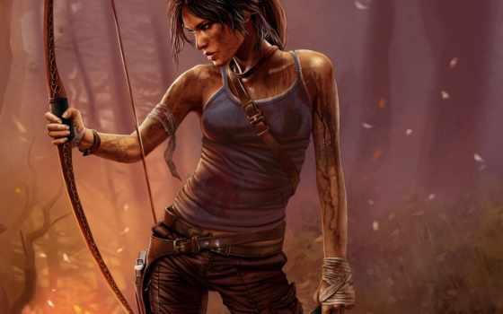 raider, tomb, лара, croft, game, крофт, девушка, игры, art,