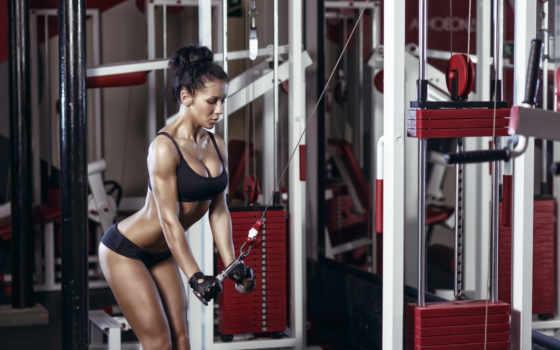 девушка, спортзал, фитнес, hall, gym, женщина, плакат, сексуальный