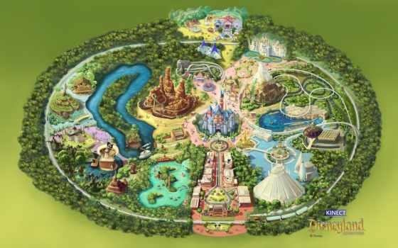 disneyland, map, adventure, disney, game, kinect, california, park, colorful, дверь, mat