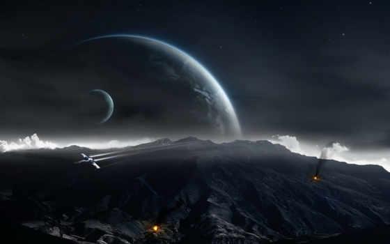 planet, moon