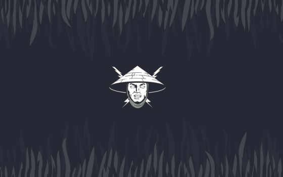 райдэн, mortal, kombat, бог, минимализм, шляпа, молния, голова, грома, rayden,