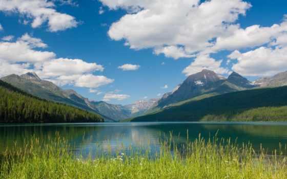 горы, природа, облака