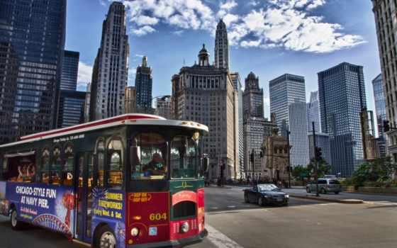 chicago, небоскребы, здания
