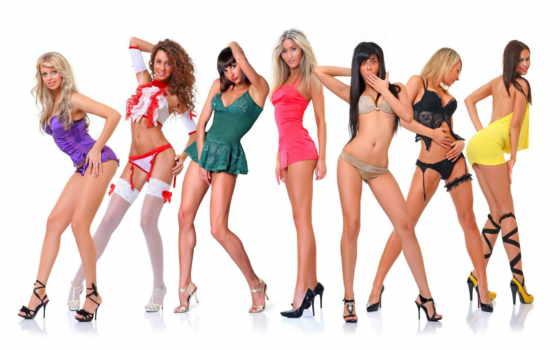 devushki, красивые, белье, каблуках, девушка, парад, нижнем, рост, full, веселые, колонной,