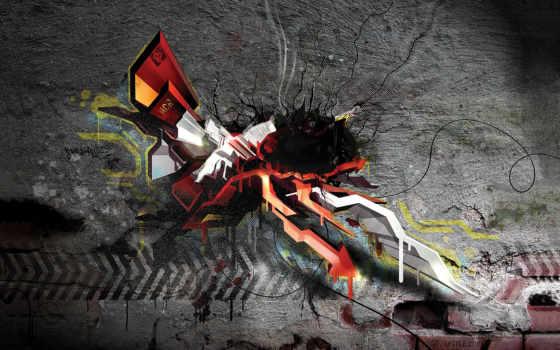 graffiti, стена, фоны, brick, сайта, сайтов, кирпичи, банка, грязная,