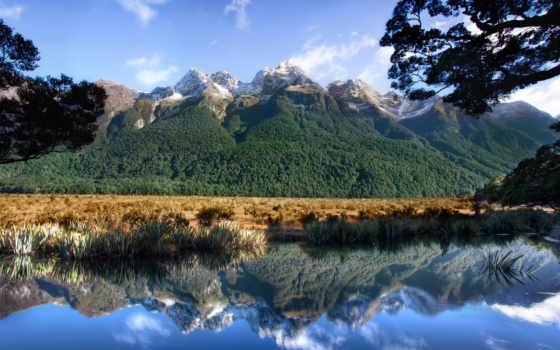 зеркало, только, lakes, total, саунд, rokott, golf, природа, мб,
