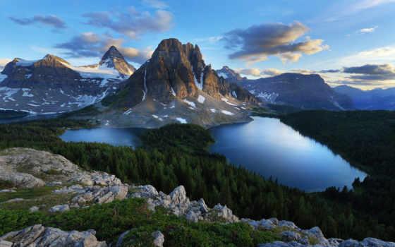 montañas, paisajes, лагос, naturales, del, los, paisaje, rboles, cárpatos,