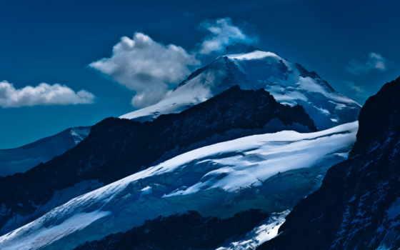 landscape, desktop, снег, mountains, гора, peak, winter,