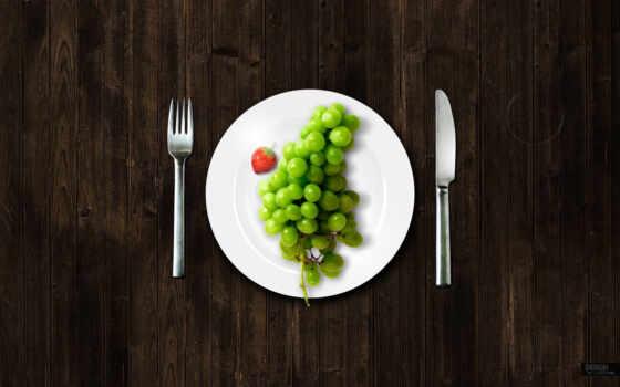 тарелка, виноград