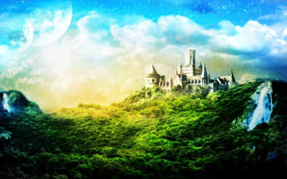 castle, fantasy Фон № 26659 разрешение 1920x1200