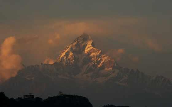 горы, гималаи, горный, аннапурна, массив, непал,